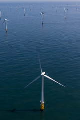 Offshore windfarm seen from the air