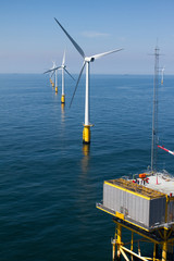 Substation in offshore windfarm
