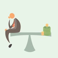 Equal Weighted: Businessman and Money.