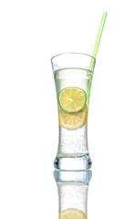 Lemonade over white background