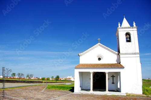 Church of Luz village, Portugal.