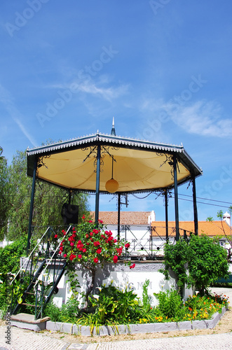 Bandstand gazebo on a public garden of Portugal.