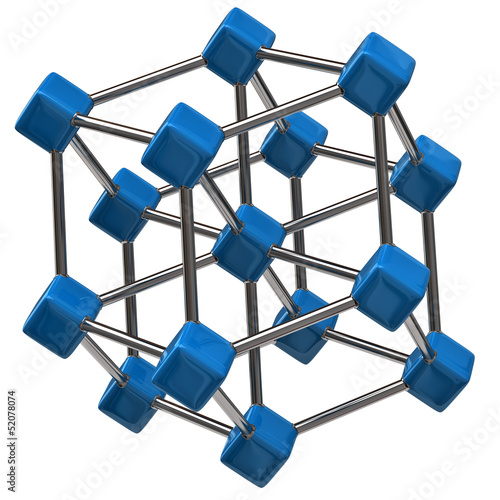 Blue molecular structure