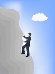 Man climb rock