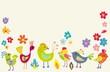 Funny Cartoon Color Birds
