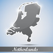 shiny icon in form of Netherlands