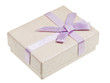 small gift box with lilac bow