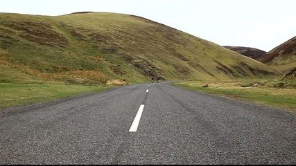 Cycling in wanlockhead scotland