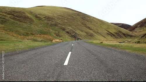 Cycling in wanlockhead scotland