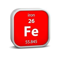 Iron material sign