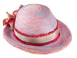 painted summer straw hat