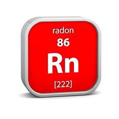 Radon material sign