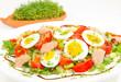 Salatteller und Kresseigel