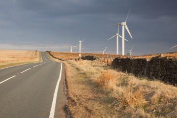 Coal Clough Wind Farm on Lancashire Moors