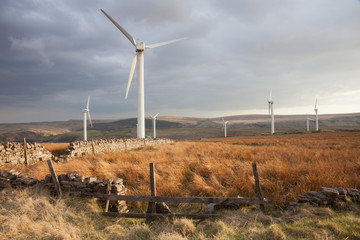 Coal Clough Wind Farm on Lancashire Moors