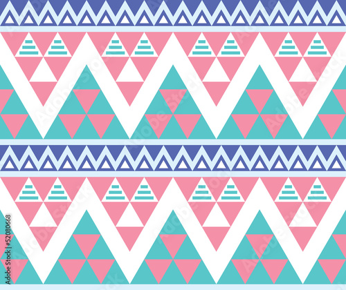 Tribal aztec colorful seamless pattern - 52080668