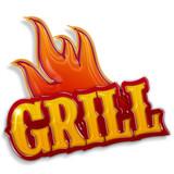 Fototapety grill label