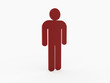 Red man figure isolated