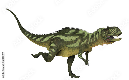 Yangchuanosaurus running side view