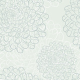 Dahlia seamless pattern. Eps8 vector illustration