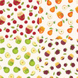 Set Of Fruit Seamless Patterns