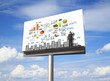 business concept on billboard