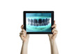 Dental closeup with tablet