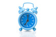 Old blue alarm clock