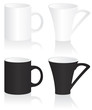Mug black and white  illustration
