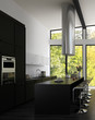 Modern Design Kitchen Interior with Bar