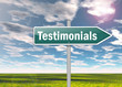 "Signpost ""Testimonials"""