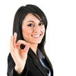 Quadro Businesswoman showing ok sign