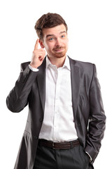 I got an idea - Surprised young businessman