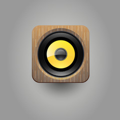 Sound loud speaker icon