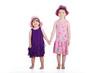 Geschwister Kinder halten Hände