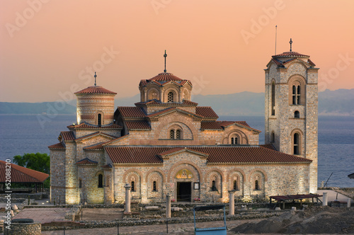 Church At Twilight In Old Ohrid, Republic Of Macedonia