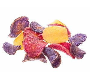 Colorful potato chips