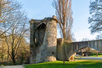 Tour des Esprits - medieval curtain wall of Metz, France