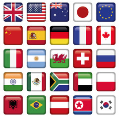 Vector set of Flags world top states