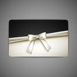 gift card with white bow and ribbon