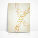background with golden triangles. brochure template