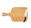 Chopping board and knife