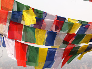 flags in Kathmandu
