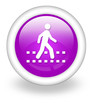 "Violet Icon ""Pedestrian Crossing"""