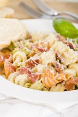 Trottole Panna e Prosciutto - Pasta with white sauce & parma ham