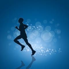 Vector running poster