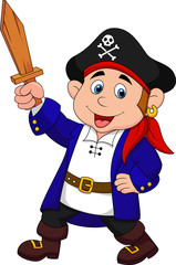 Pirate boy cartoon