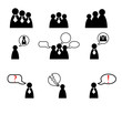 Human management icons set. Vector illustration