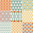 retro seamless abstract geometric pattern