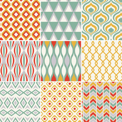 retro seamless abstract geometric pattern